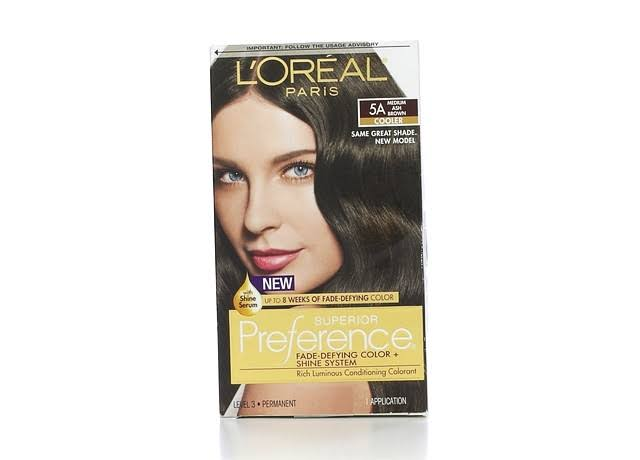 L'Oréal Paris Superior Preference Permanent Hair Color - 5A Medium Ash Brown, Cooler