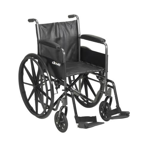 McKesson Drive Wheelchair - Standard Fixed Arms, Black