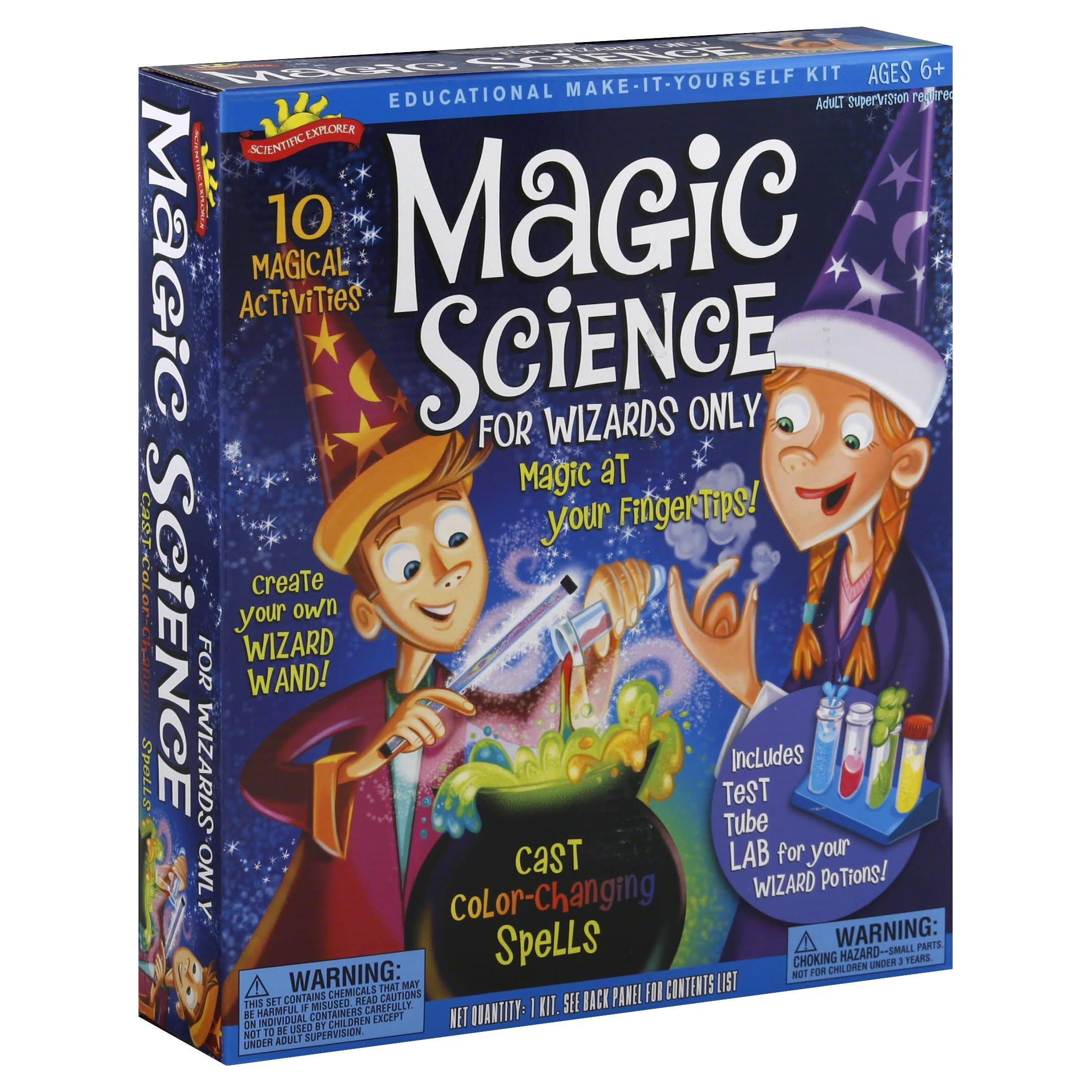 Scientific Explorer Magic Science For Wizards Only Kit - 7 Activities