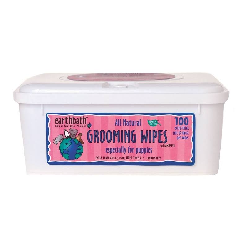Earth Bath Grooming Wipes - 100 Pet Wipes