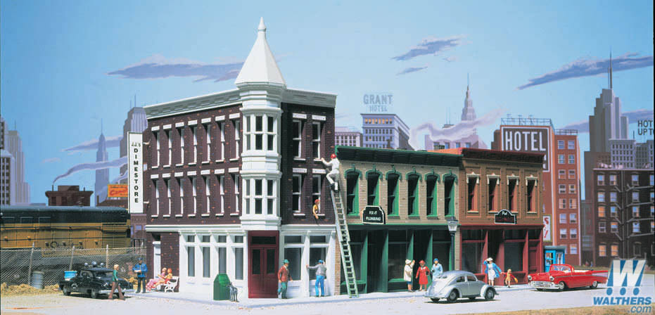 Walthers Cornerstone Series Merchant's Row II Ho Scale Kit