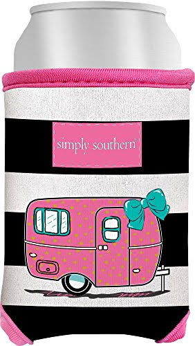 Simply Southern Juniors Camper Can Cooler One Size Black/Multi