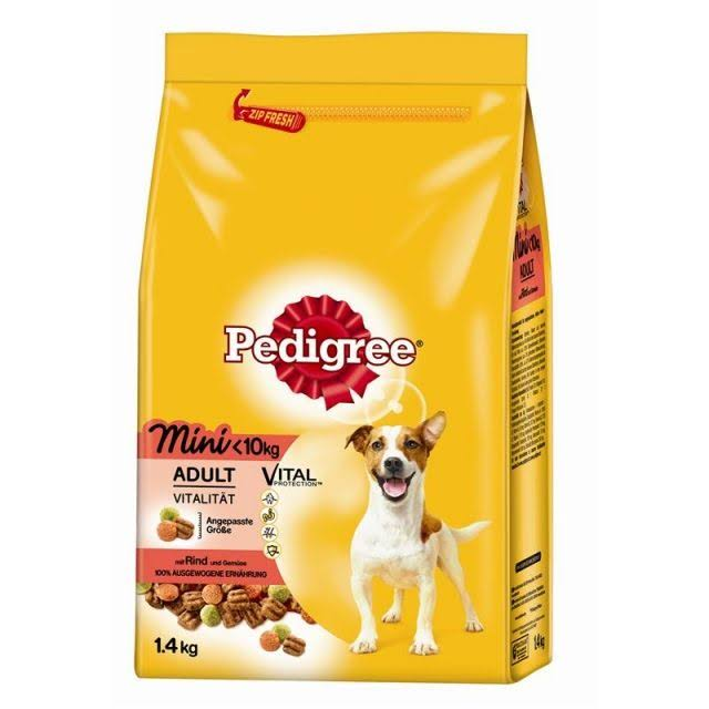 Pedigree Vital Protection Small Dog Food - <10kg Adult, Beef & Vegetables, 1.4kg