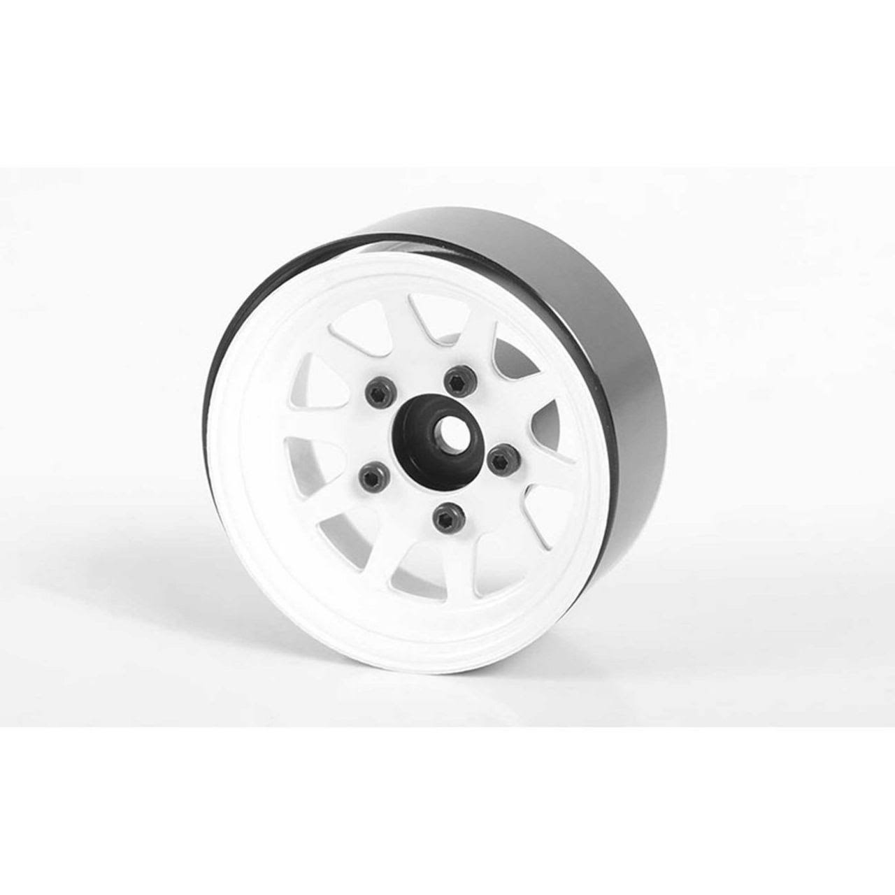 "RC4WD OEM Stamped Steel 1.55"" Beadlock Wheels,White"