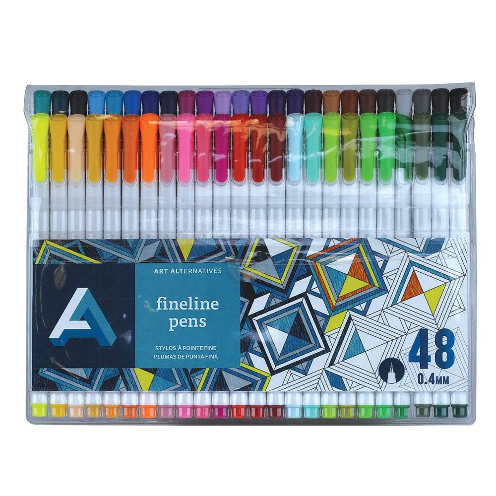 Art Alternatives Fine Liner Pen Set - Set of 48