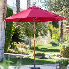 Sears Canada Patio Umbrella by Belham Living 9 Ft Wood Commercial Grade Sunbrella Market