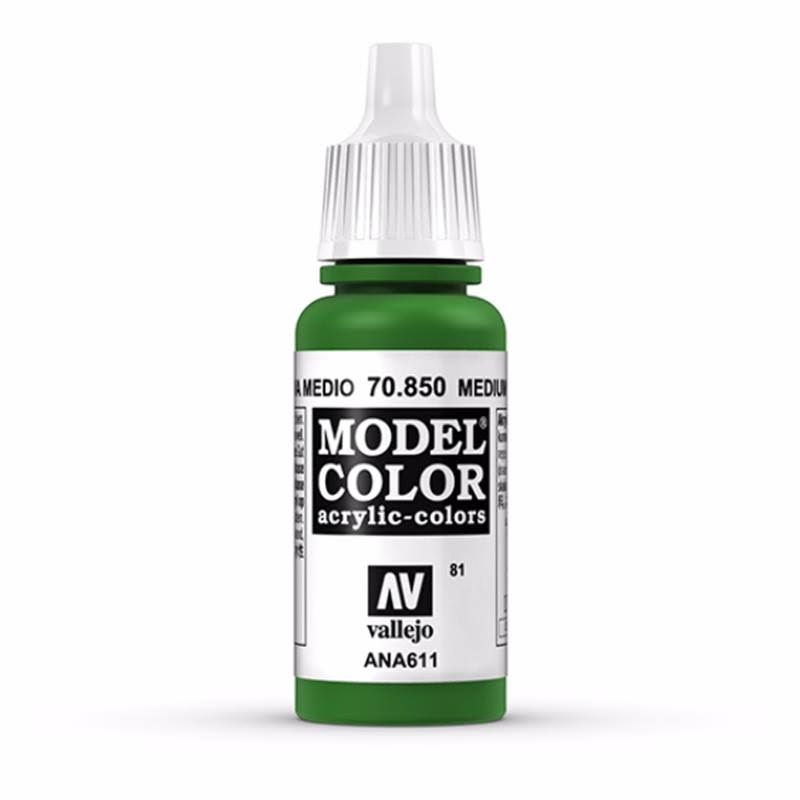 Vallejo Paint Model Color Acrylic Paint - 17ml, Medium Olive