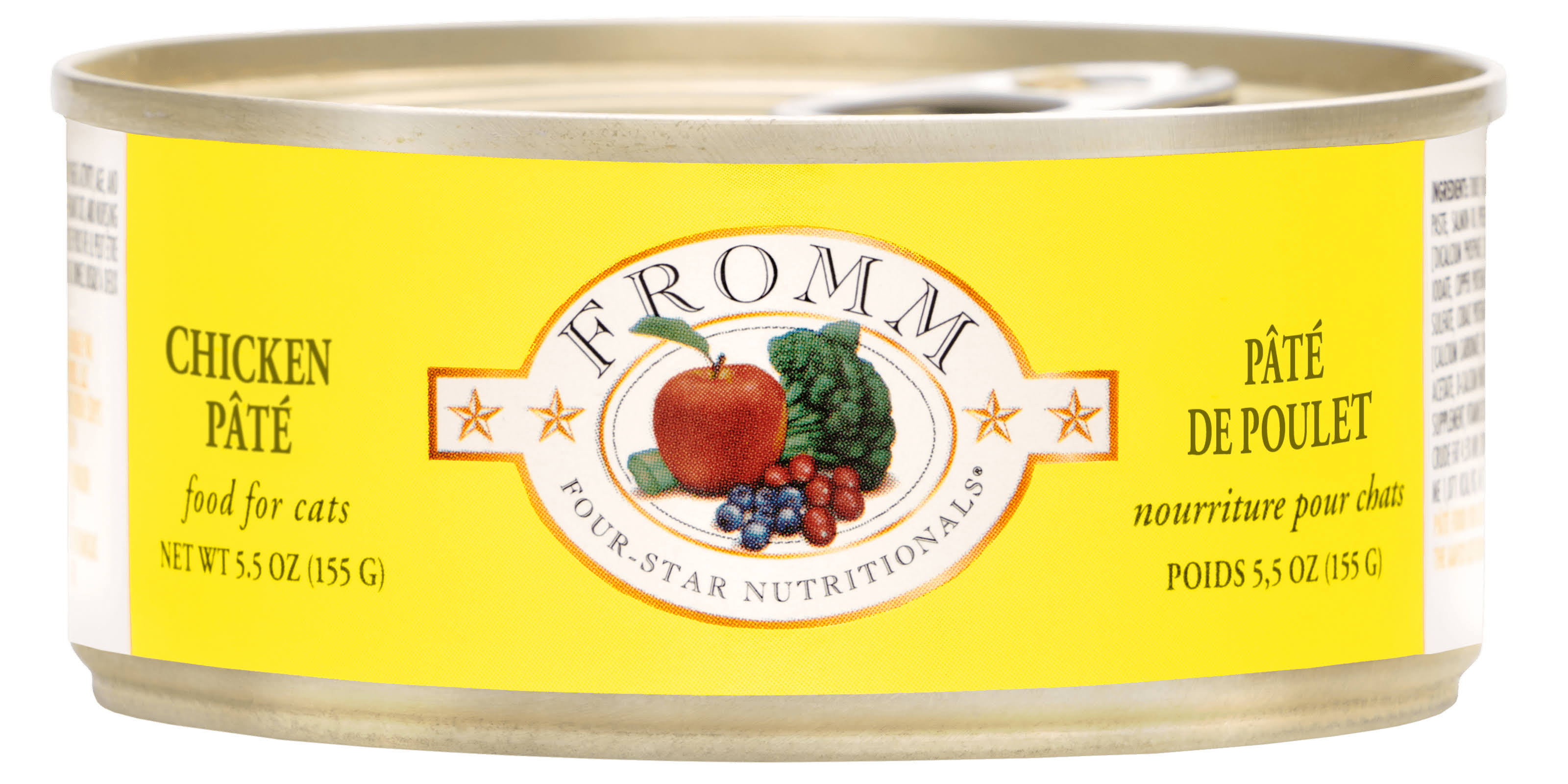 Fromm Four Star Grain Free Chicken Pate Canned Cat Food 5.5oz/12