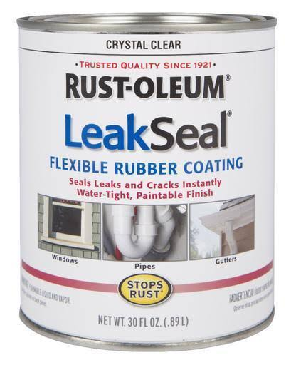 Rust-Oleum 275116 Stop Rust Leak Seal Flexible Rubber Coating Sealant - Crystal Clear