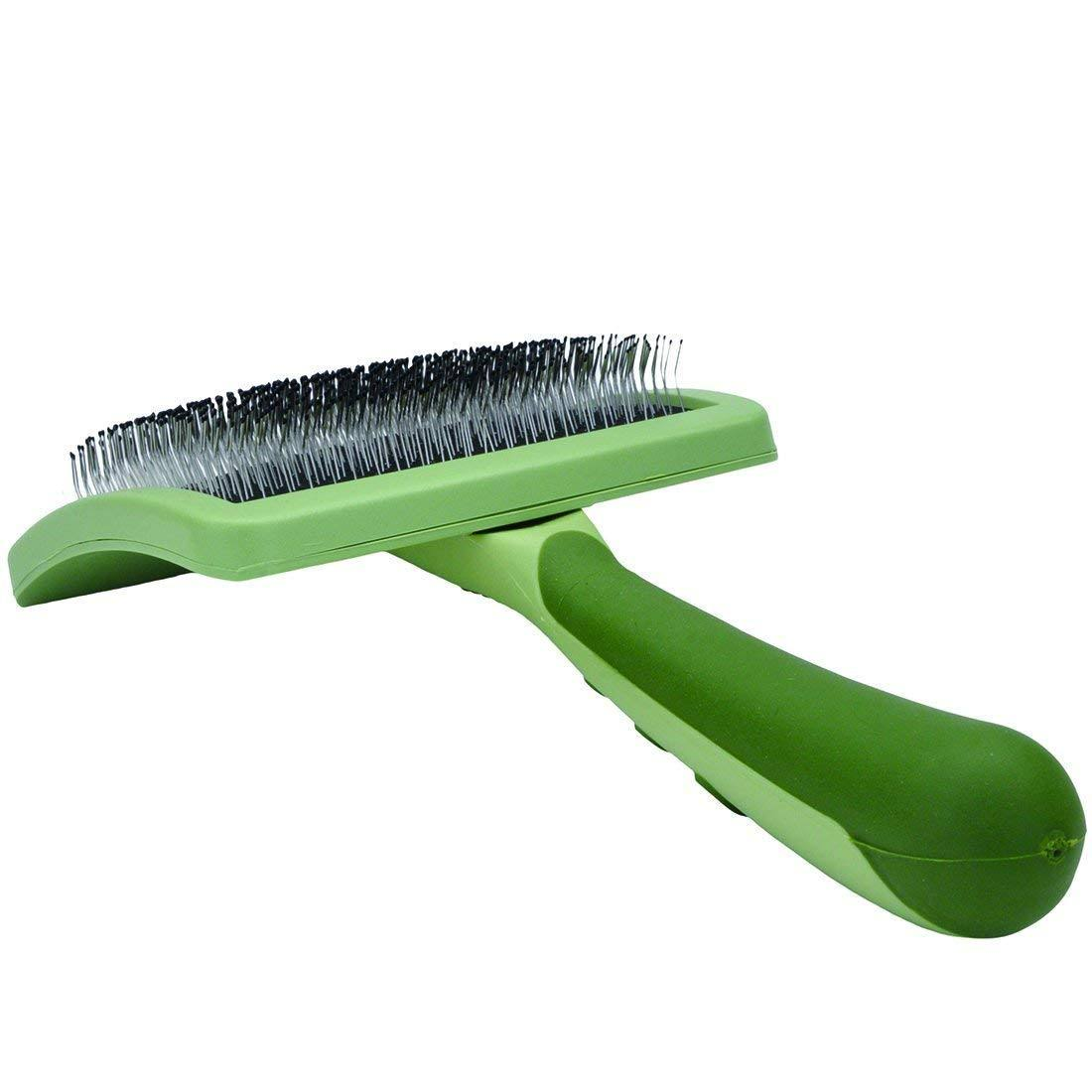 Safari Curved Firm Slicker Dog Brush, Small