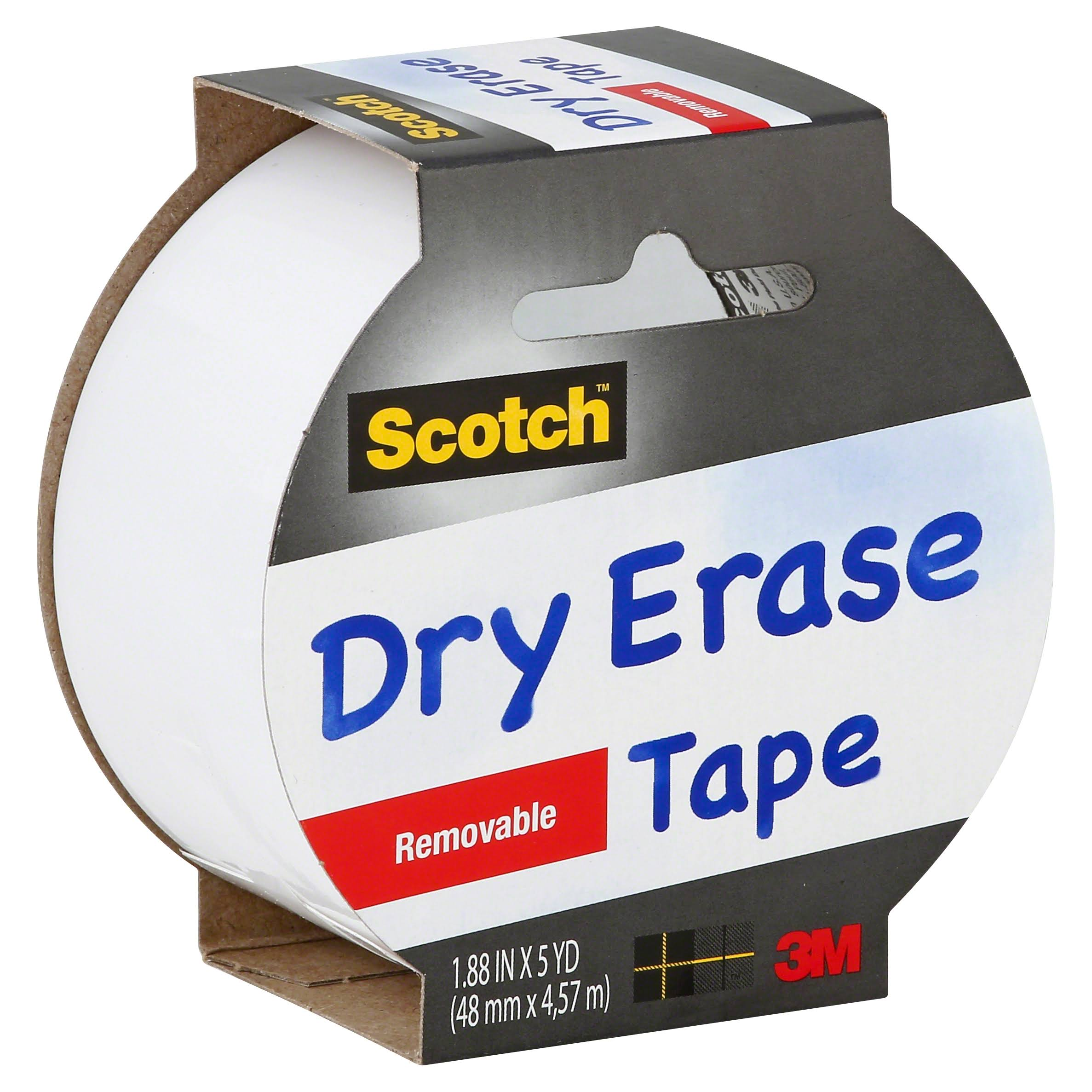 Scotch Dry Erase Tape - 1.88 in x 5 yd