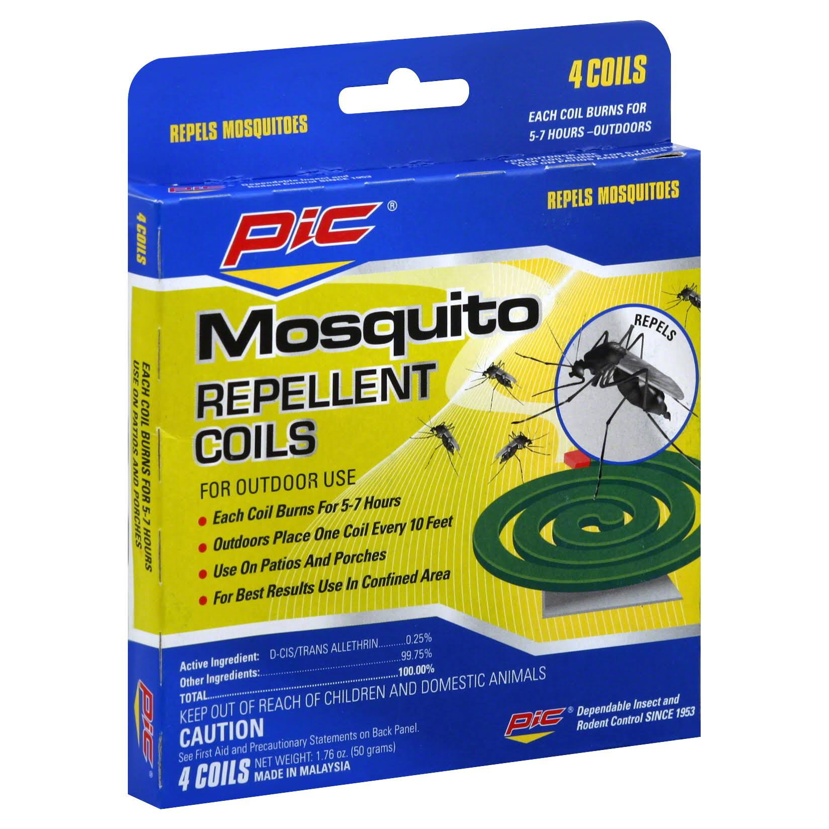 Pic Mosquito Repellent Coils - 4 Pack