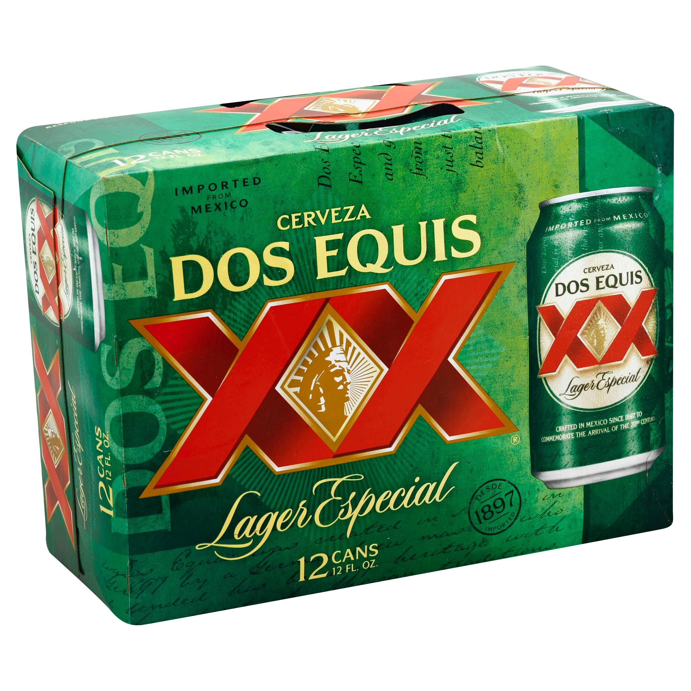 Dos Equis Lager Especial Beer - 12 Cans