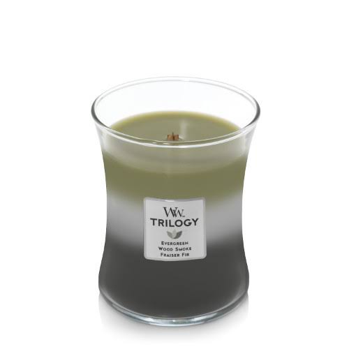 WoodWick Trilogy Scented Jar Candles - Mountain Trail, 10oz