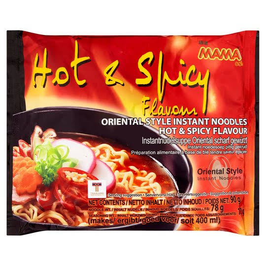 Mama Oriental Style Instant Noodles - Hot and Spicy Flavour, 90g