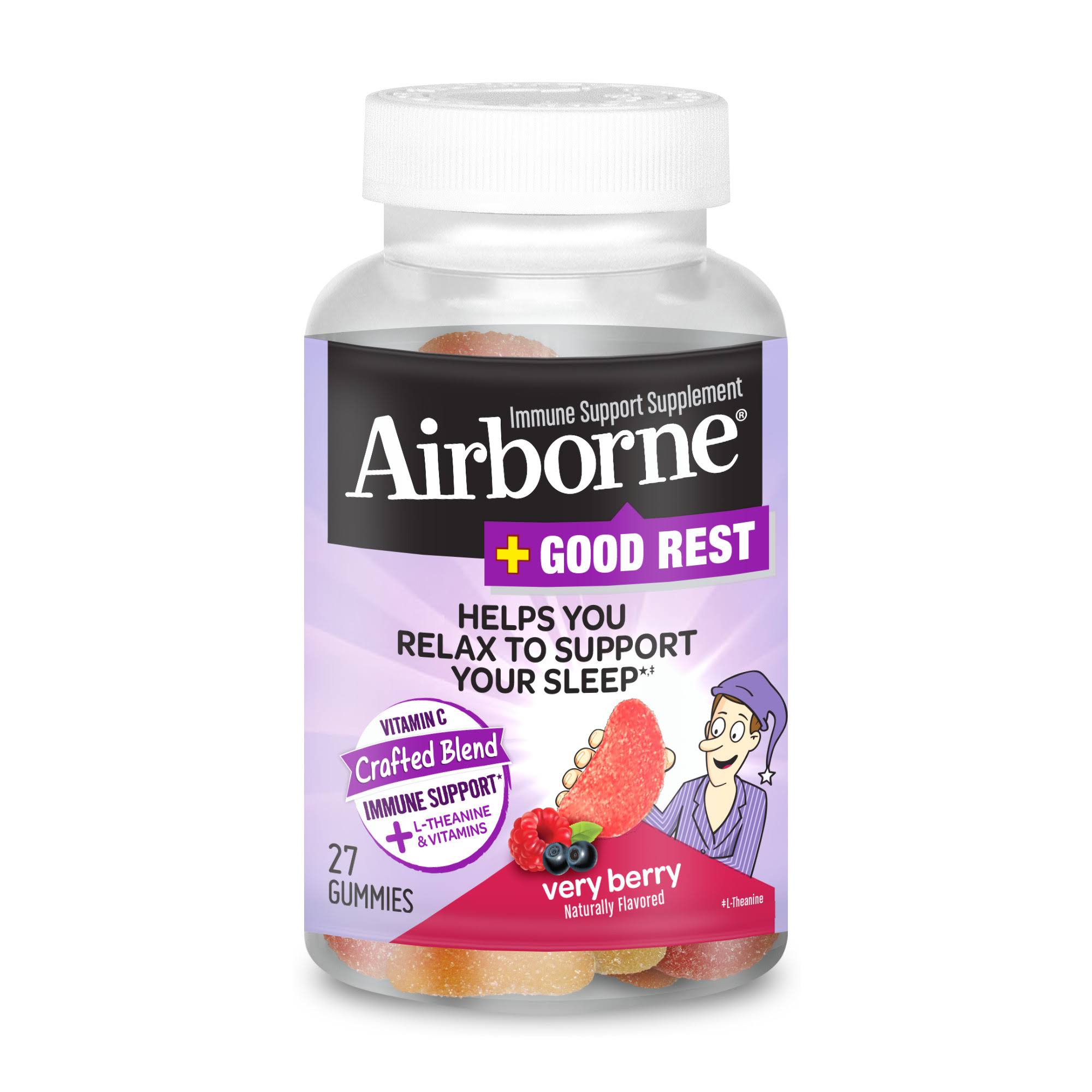 Airborne Vitamin C, Crafted Blend, Very Berry - 27 gummies