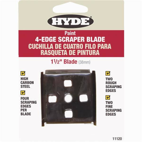 Hyde Tools 4 Edge Scraper Blade - 1-1/2""