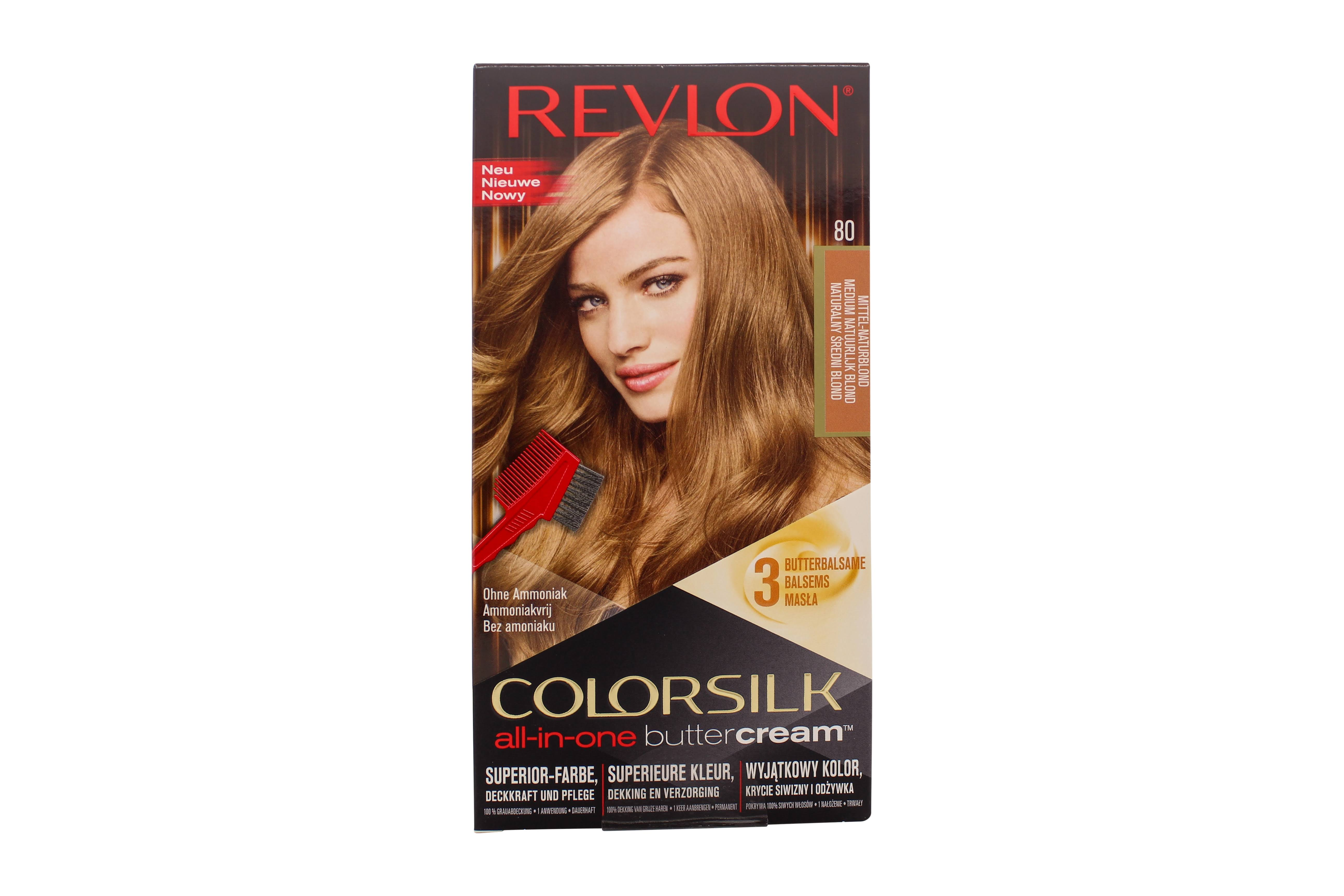Revlon Colorsilk Buttercream Hair Color, Medium Natural Blonde, White