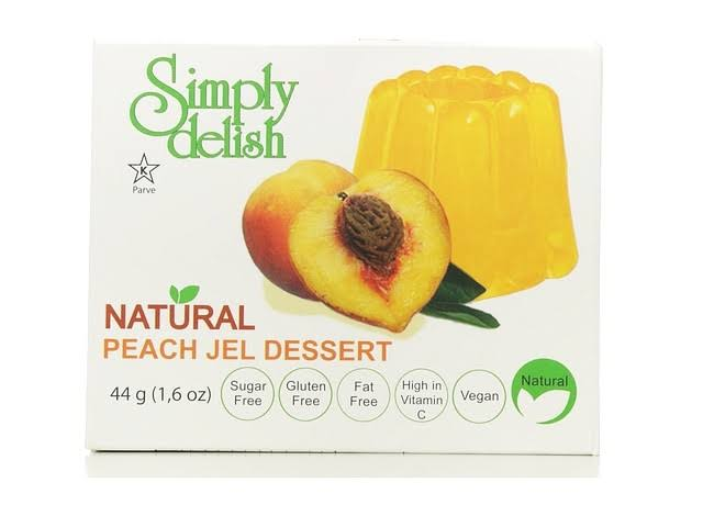 Simply Delish Dessert Jel - Peach, 1.6oz
