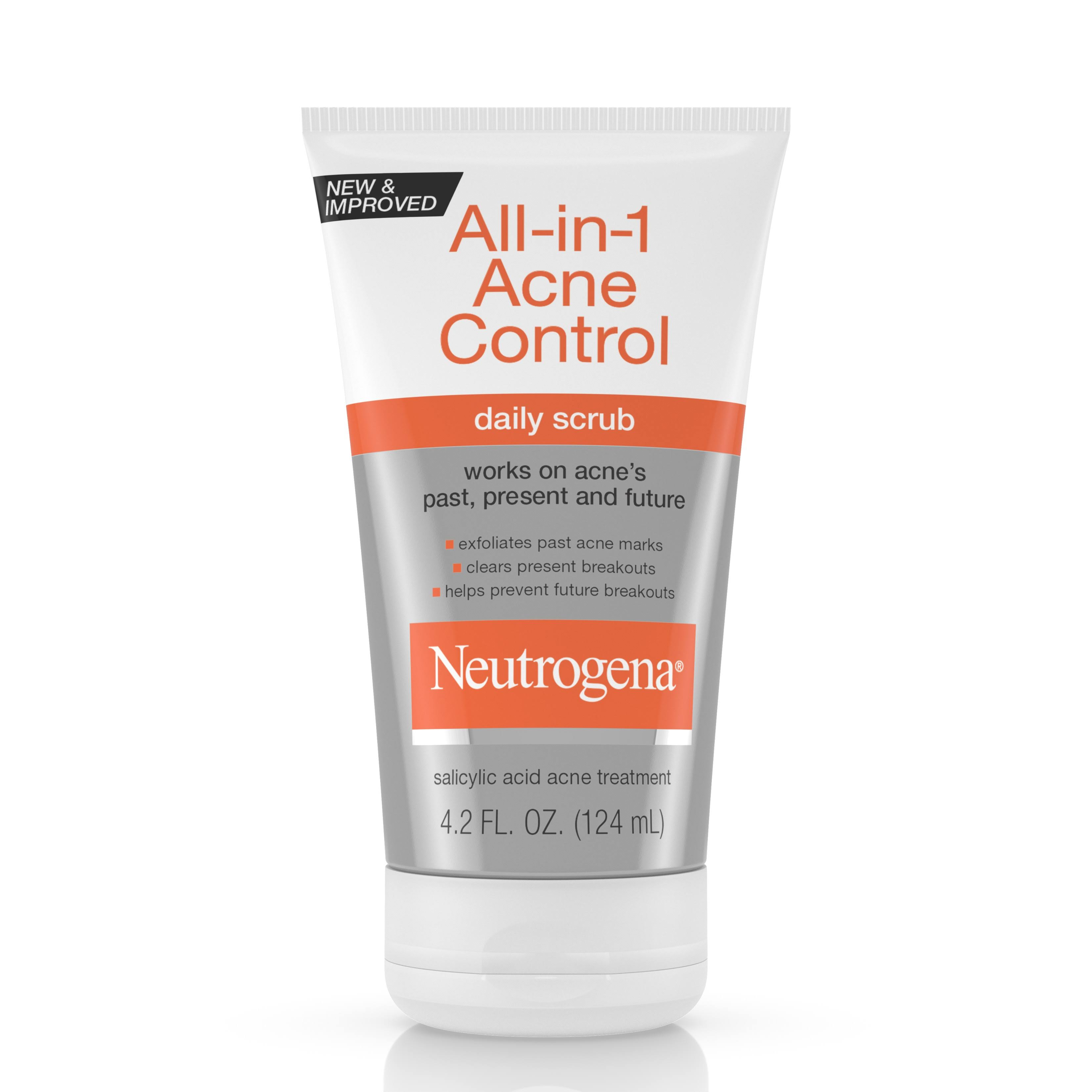 Neutrogena All in 1 Acne Control Daily Scrub - 4.2oz