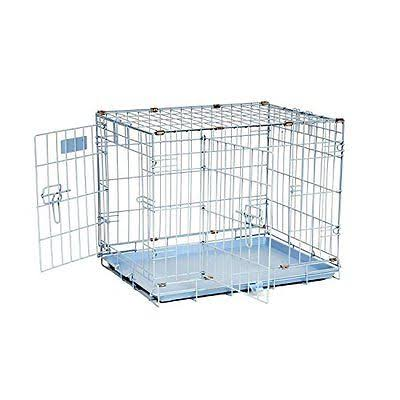 "Precision Pet ProValu Double Door Dog Crate - Blue, 24"" x 18"" x 19"""