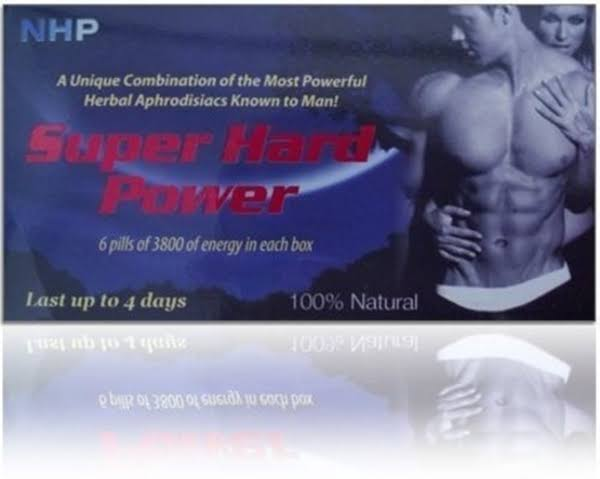 Super Hard Power 100% Natural 6 Pills by NHP