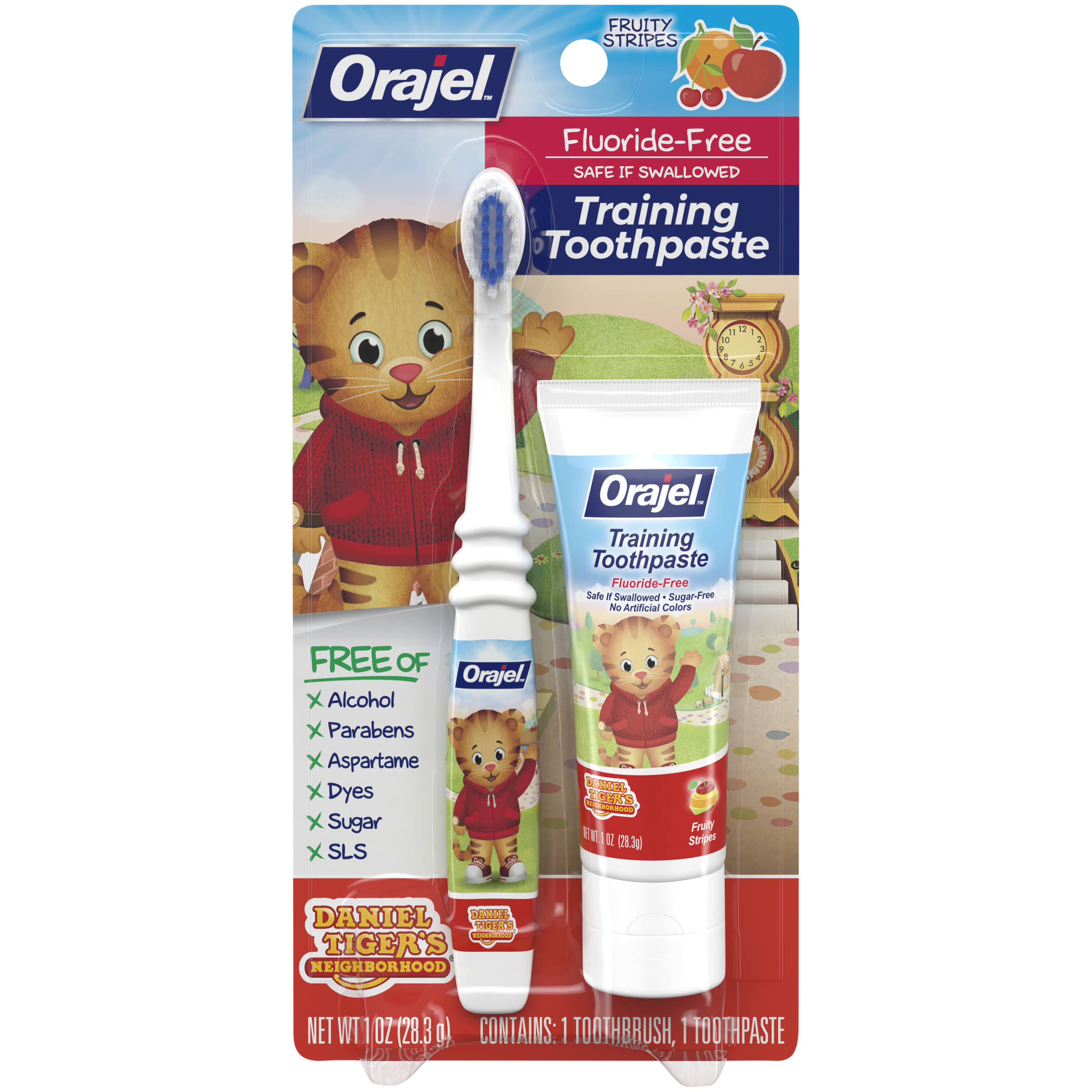 Orajel Training Toothpaste - Tooty Fruity, 3 Months to 4 Years, 1oz