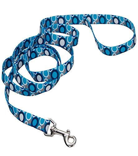 "Pet Attire Styles Plaid Bones Dog Leash - 1"" x 6'"