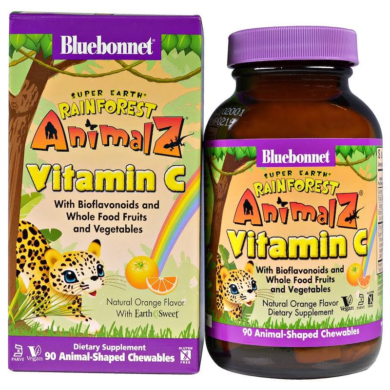 Bluebonnet Nutrition Rainforest Animalz Vitamin C, Tablets - 90 count