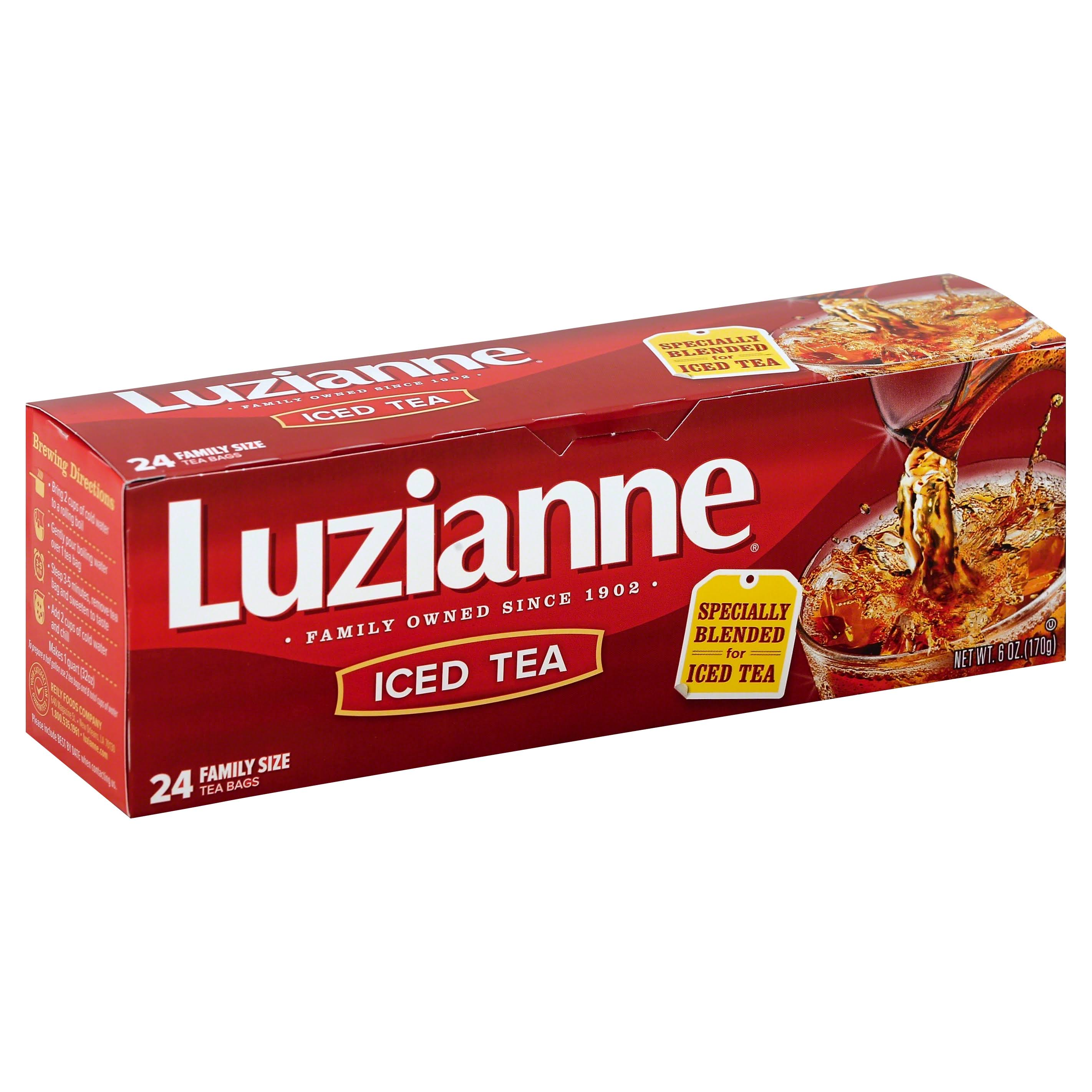 Luzianne Iced Tea Family Quart Tea Bags - 24ct