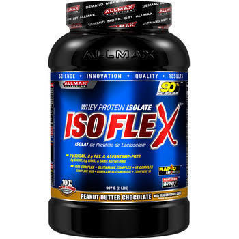 AllMax Nutrition IsoFlex, Peanut Butter Chocolate - 907 grams