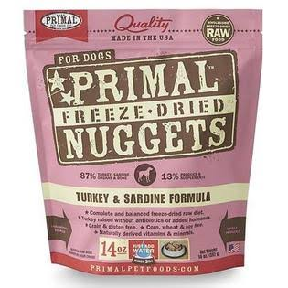 Primal Freeze-Dried Formula for Dogs - Turkey And Sardine Formula, 397g