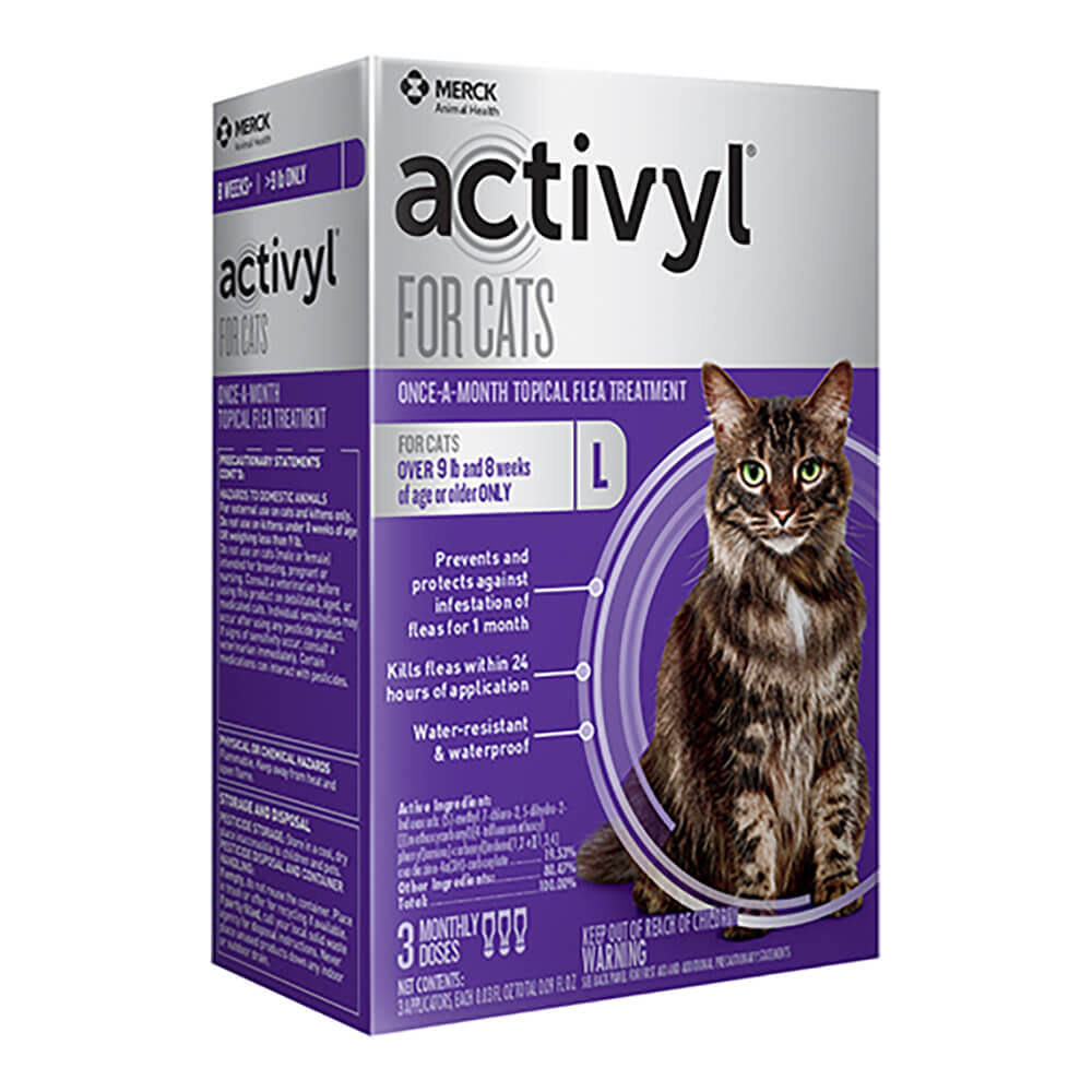 Activyl for Cats Once-A-Month Flea Treatment for Large Cats - 3 Dosages