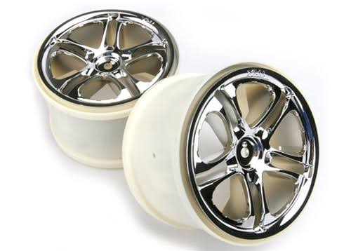 Traxxas Tra5172x Revo TMX Split Spoke Wheels - Chrome, 3.8""