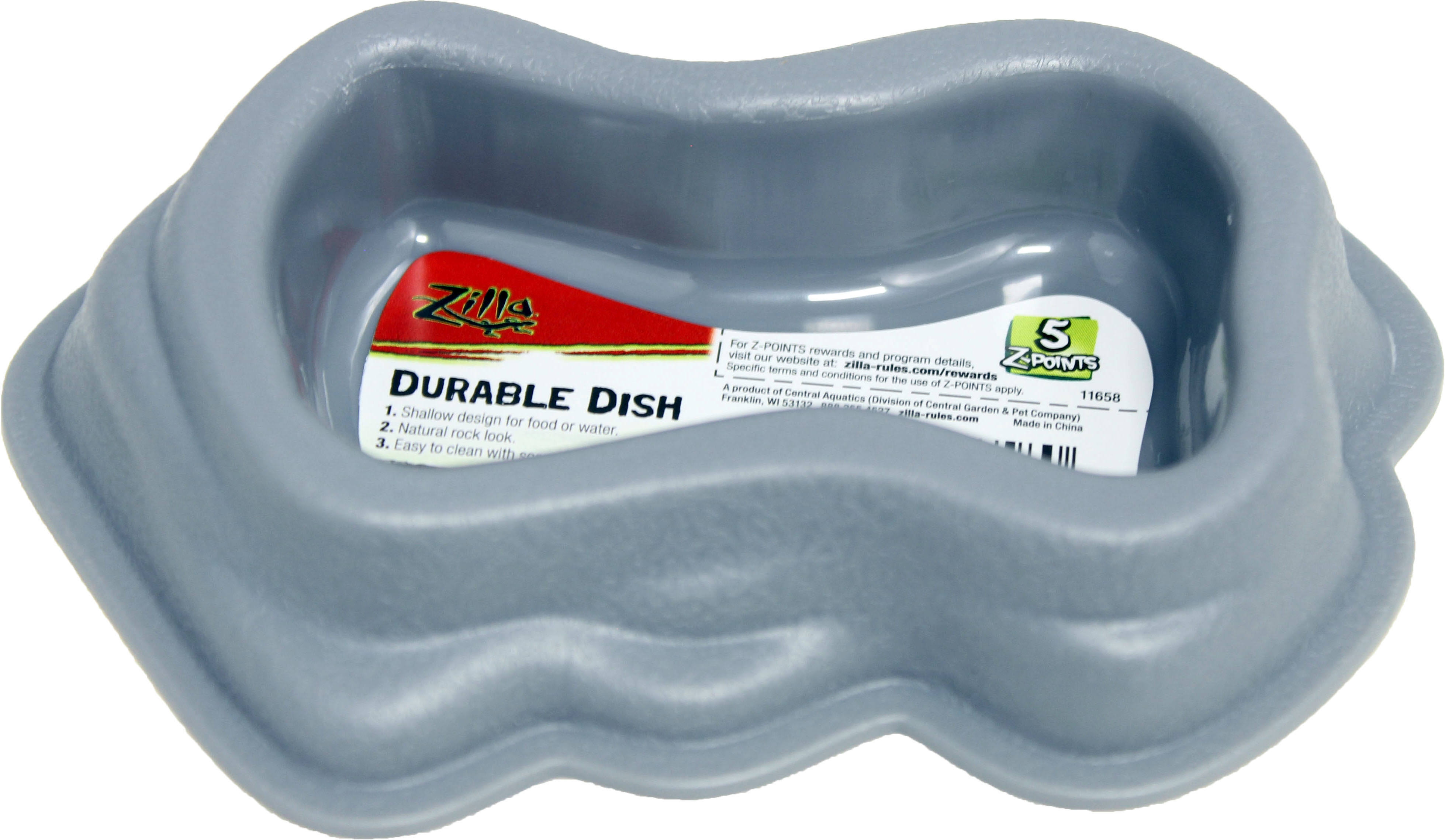 Zil Decor Durable Dish - Gray, Large
