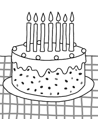 Cake Decorating Books Free birthday cake coloring page for kids download coloring pages cake