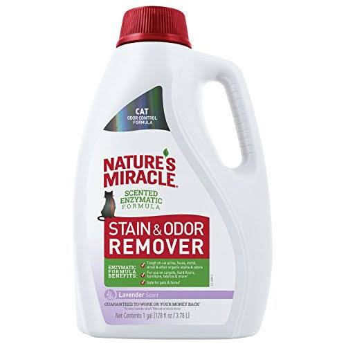 Nature's Miracle Cat Stain and Odor Remover, 128 fl oz, Lavender