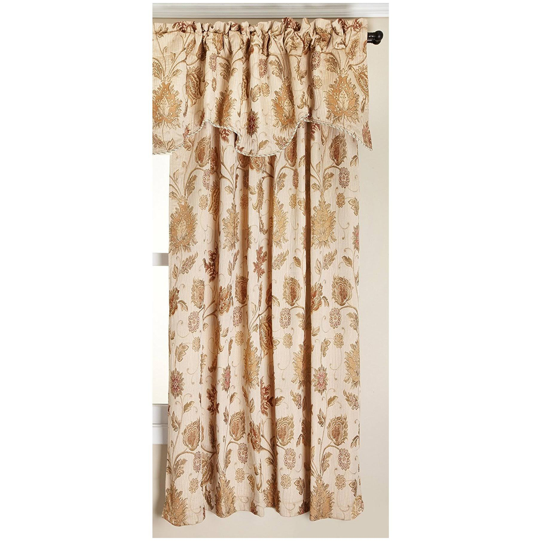 Renaissance Home Fashion Melbourne Chenille Panel, Ivory, 52-Inch by 63-inch