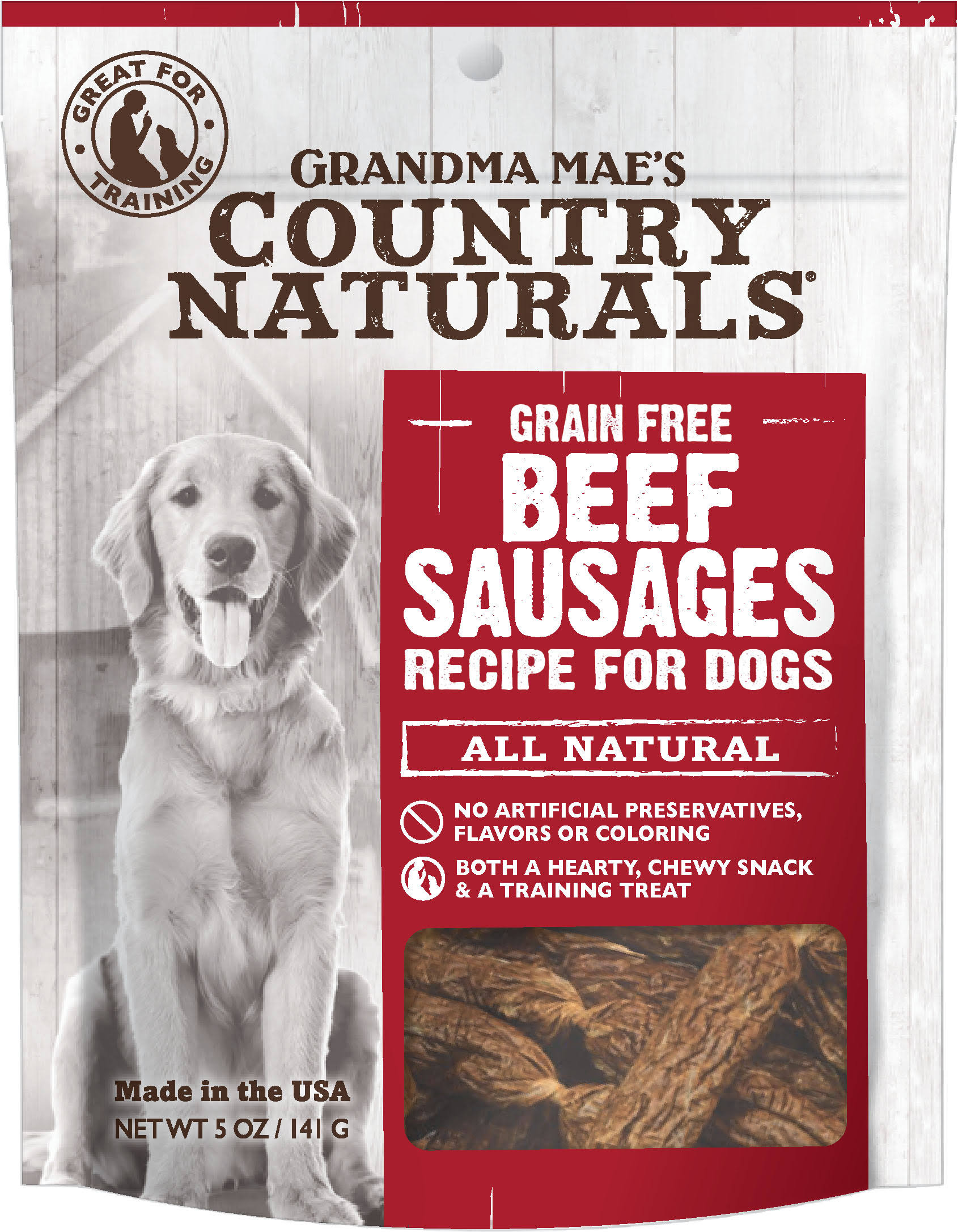 Grandma Mae S Country Nat-Country Naturals Dog Treat- Beef 5oz