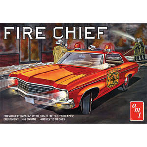 AMT 1/25 1970 Chevy Impala Fire Chief, Amt1162