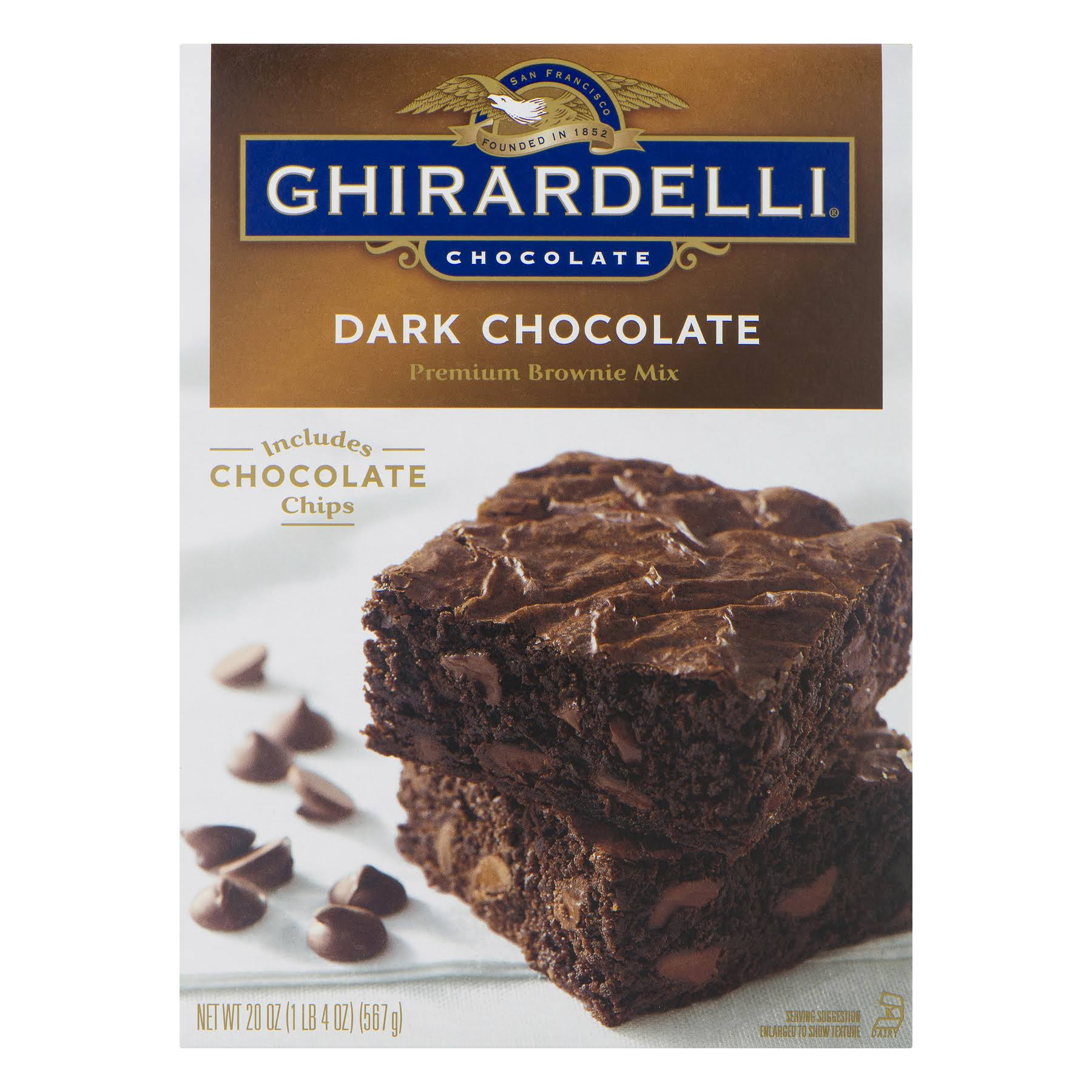 Ghirardelli Dark Chocolate Premium Brownie Mix - 20oz