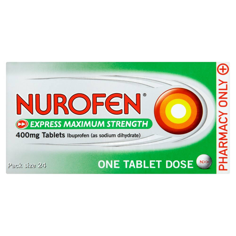 Nurofen Express Maximum Strength Ibuprofen - 400mg, 24 Tablets