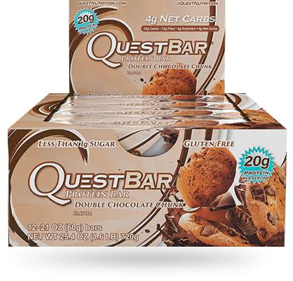 Quest Bar Protein Bar - Double Chocolate Chunk, 12, 12 Bars