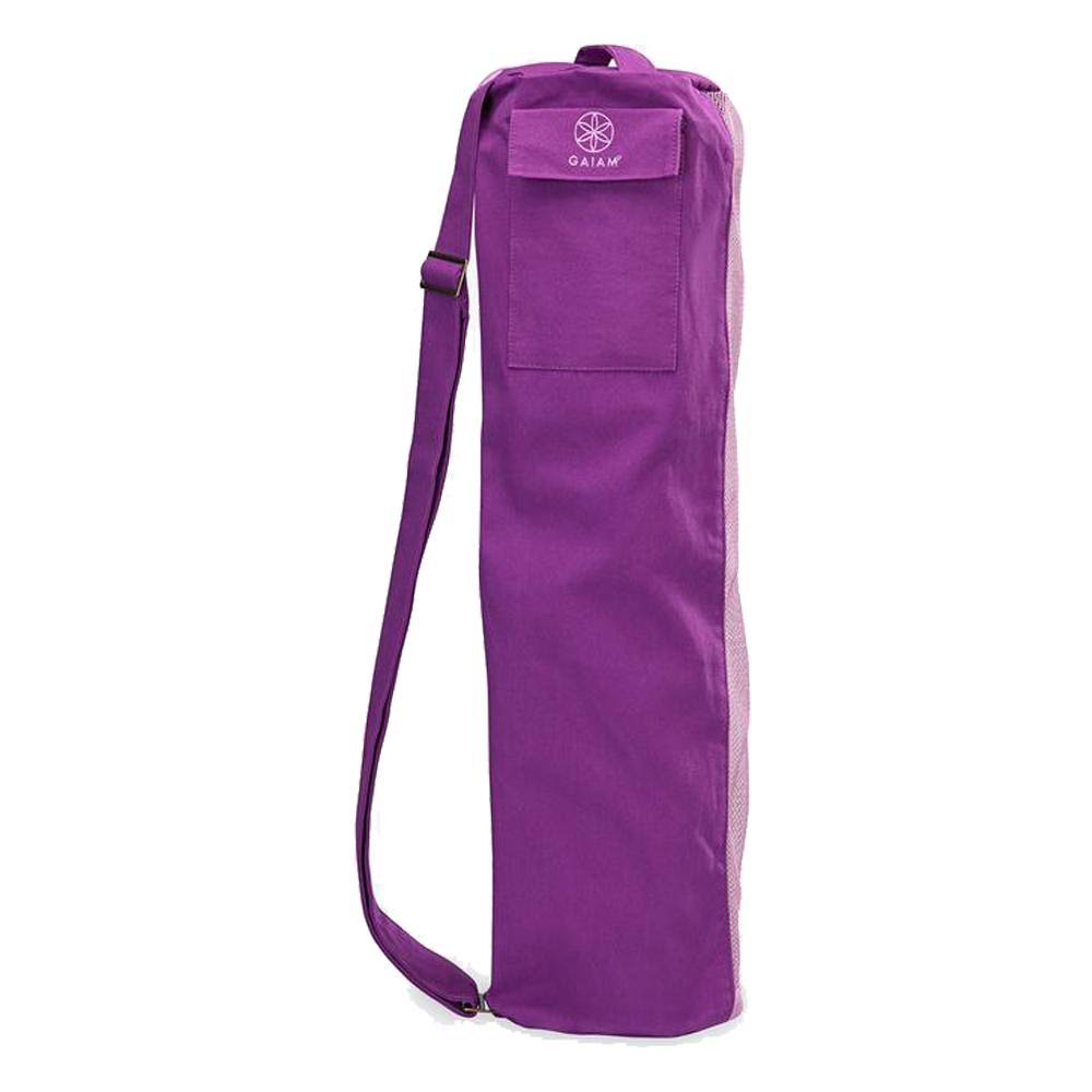 Gaiam Breathable Yoga Mat Bag - Purple