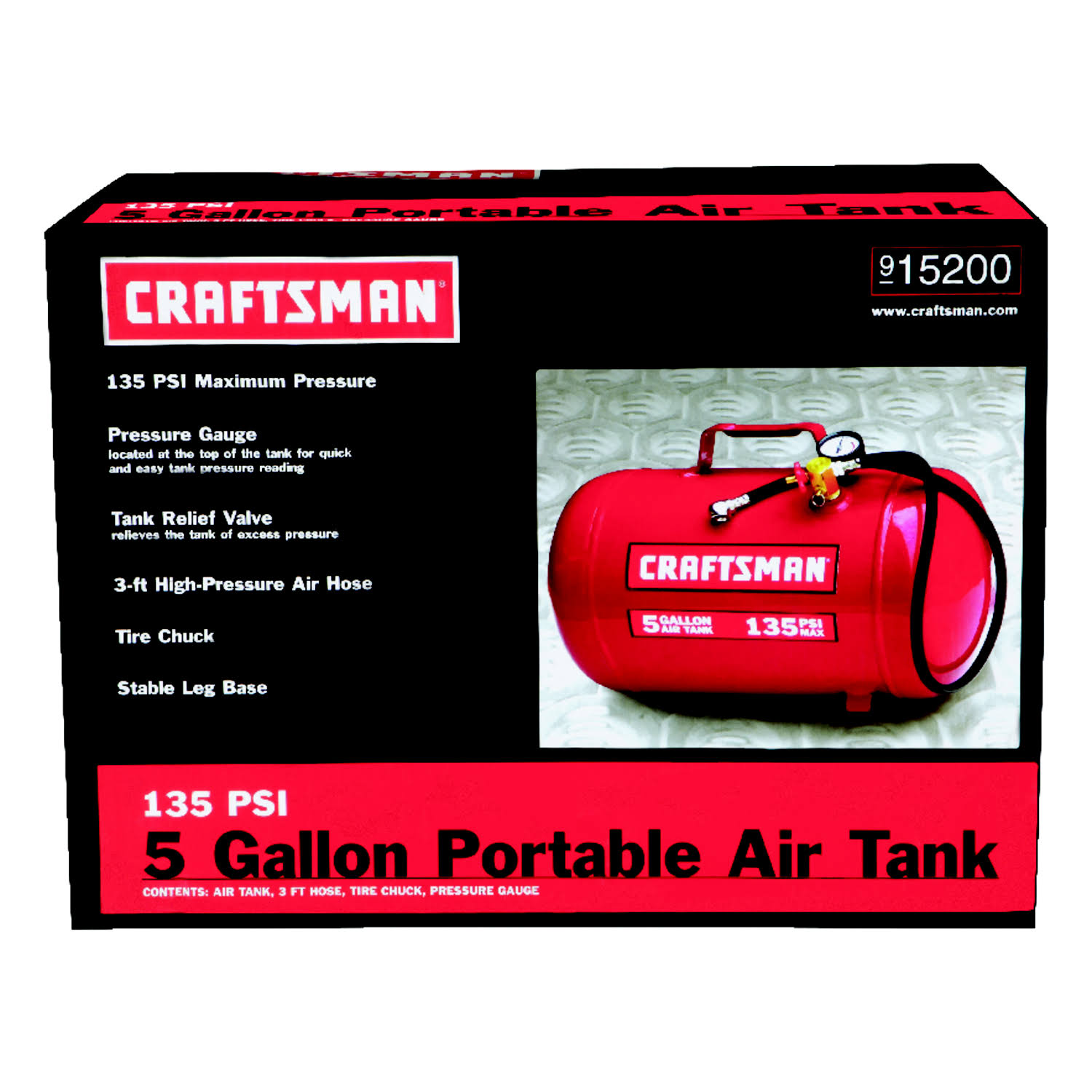 Craftsman Horizontal Air Tank - 130 Psi