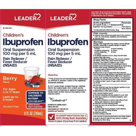 Leader Children's Ibuprofen Liquid - Berry, 8oz
