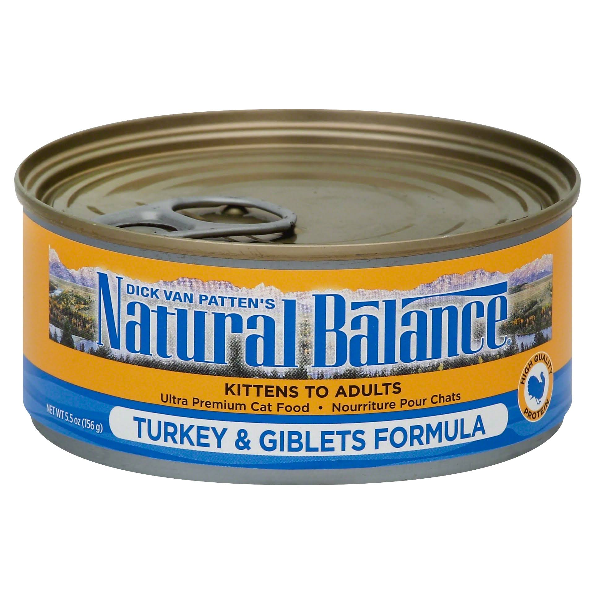 Dick Van Patten's Natural Balance Canned Cat Food - Turkey & Giblet, 5.5 Oz