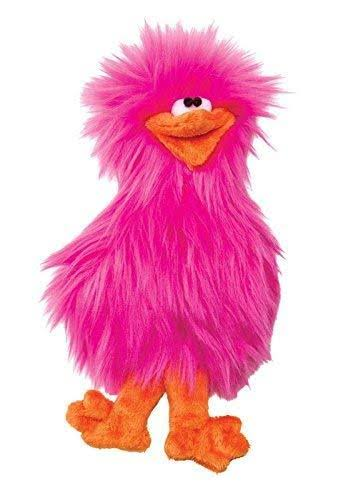 West Paw Design Spring Chicken Squeak Dog Toy - Hot Pink