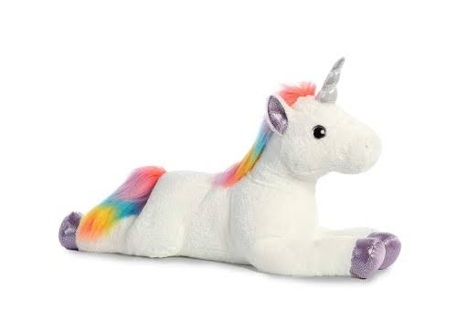 Aurora World Super Flopsie Plush Toy Animal, Rainbow Unicorn Super, 27""