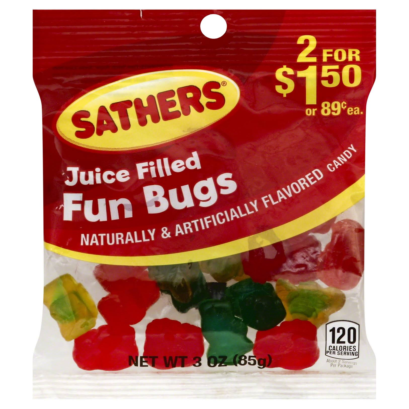 Sathers Candy, Juice Filled Fun Bugs - 3 oz